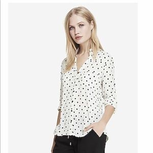 Express Original Fit Polka Dot Portofino Shirt